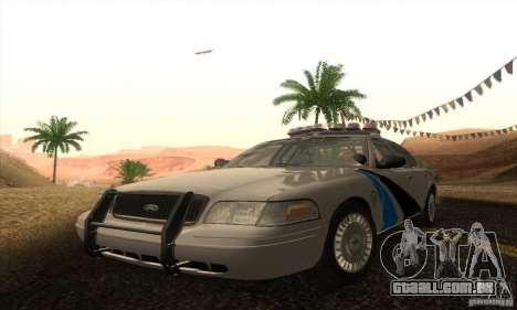 Ford Crown Victoria Colorado Police para GTA San Andreas