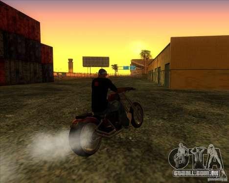 Hexer bike para GTA San Andreas vista traseira