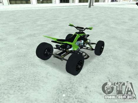 Kawasaki Monster Energy Quad para GTA San Andreas esquerda vista