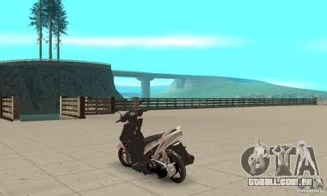 Honda Vario-Velg Racing para GTA San Andreas traseira esquerda vista