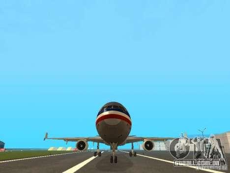 McDonell Douglas MD11 American Airlines para vista lateral GTA San Andreas