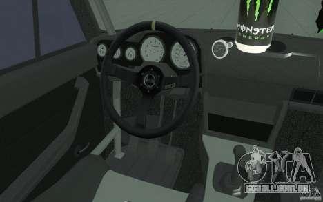 VAZ 2106 Lada Drift afinado para GTA San Andreas vista superior