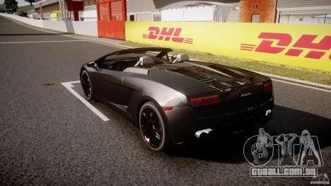 Lamborghini Gallardo LP560-4 Spyder 2009 para GTA 4 traseira esquerda vista