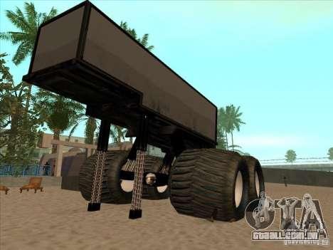 Reboque para caminhão Monsterous para GTA San Andreas