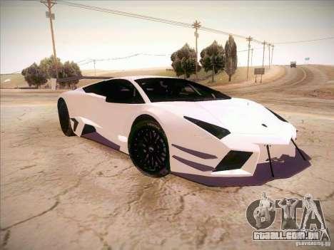 Lamborghini Reventon GT-R para GTA San Andreas vista direita