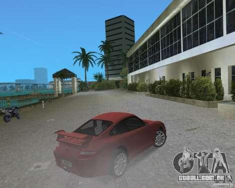 Porsche 911 GT3 para GTA Vice City vista traseira esquerda