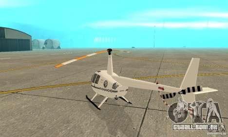 Robinson R44 Raven II NC 1.0 branco para GTA San Andreas vista direita