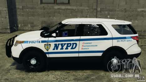 Ford Explorer NYPD ESU 2013 [ELS] para GTA 4 esquerda vista
