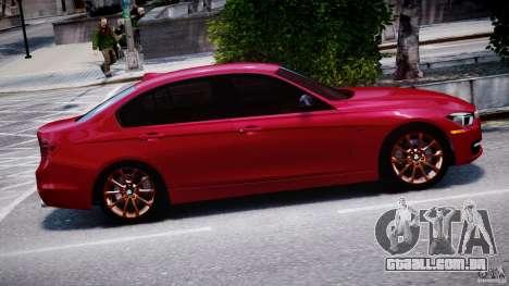 BMW 335i E30 2012 Sport Line v1.0 para GTA 4 vista lateral