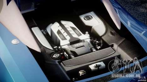 Audi R8 Spyder v2 2010 para GTA 4 vista direita