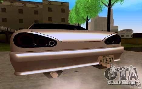Novo Elegy para GTA San Andreas traseira esquerda vista