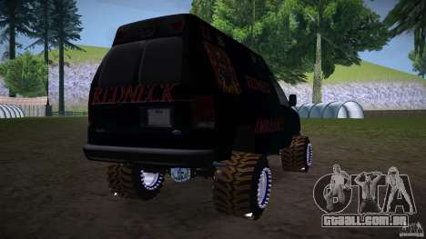 Ford E-450 Off Road para GTA San Andreas traseira esquerda vista