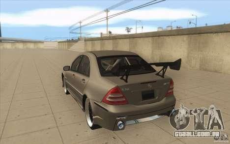 Mercedes-Benz C32 AMG Tuning para GTA San Andreas traseira esquerda vista