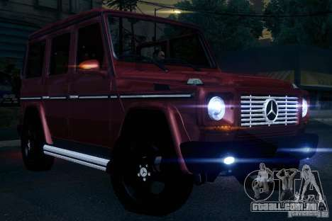 Mercedes-Benz G65 para vista lateral GTA San Andreas