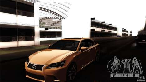 Lexus GS350F Sport 2013 para vista lateral GTA San Andreas