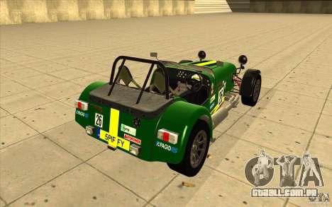 Caterham Superlight R500 para o motor de GTA San Andreas