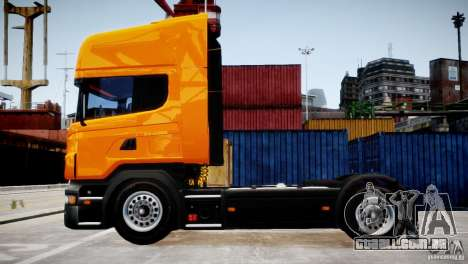 Scania R500 para GTA 4 esquerda vista