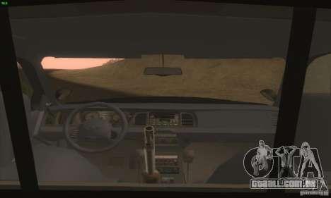 Ford Crown Victoria Idaho Police para GTA San Andreas vista direita