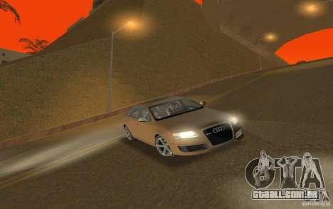 Audi RS6 TT Black Revel para GTA San Andreas vista traseira