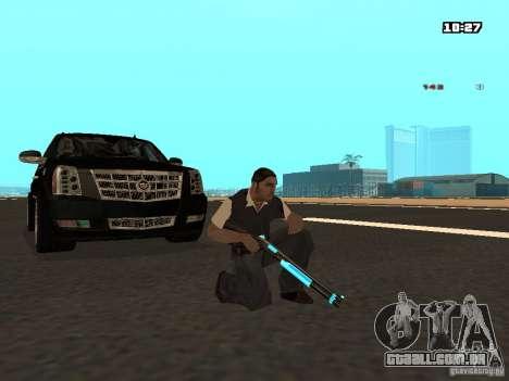 Black & Blue guns para GTA San Andreas