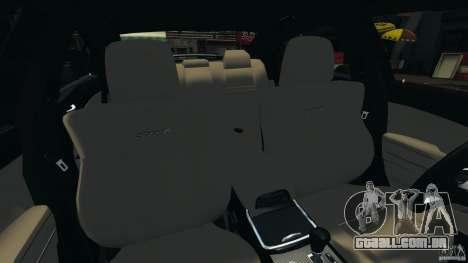 Dodge Charger SRT8 2012 v2.0 para GTA 4 vista interior