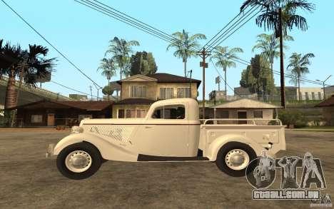 GÁS M415 para GTA San Andreas esquerda vista