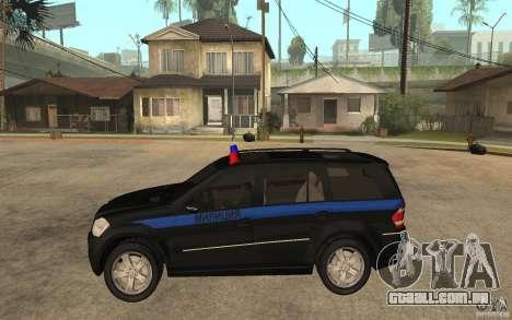 Mercedes Benz GL500 polícia para GTA San Andreas esquerda vista