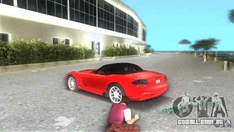 Dodge Viper SRT 10 Coupe para GTA Vice City vista traseira esquerda