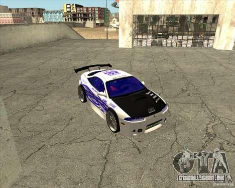 Mitsubishi Eclipse street tuning para GTA San Andreas vista interior