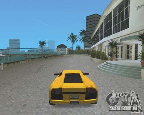 2005 Lamborghini Murcielago para GTA Vice City vista traseira esquerda
