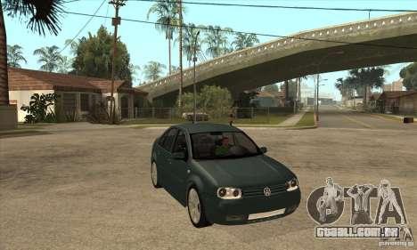 Volkswagen Bora-Golf para GTA San Andreas vista traseira