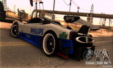 Pagani Zonda R para GTA San Andreas interior