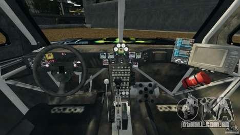 Hummer H3 raid t1 para GTA 4 vista de volta