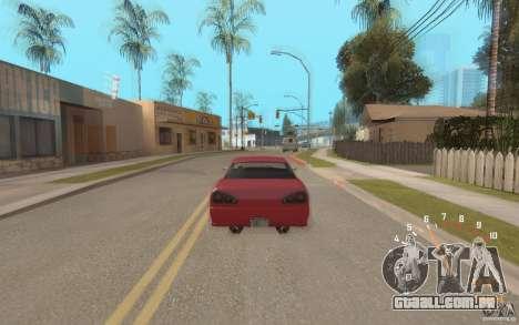 Digital speedometer and tachometer para GTA San Andreas terceira tela