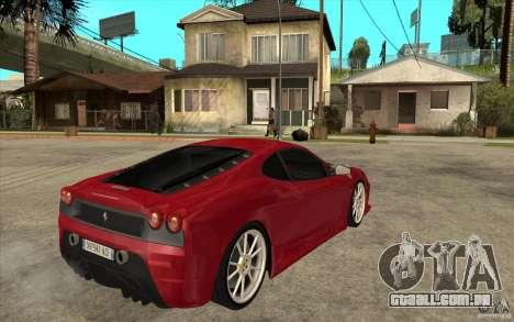 Ferrari F430 Scuderia para GTA San Andreas vista direita