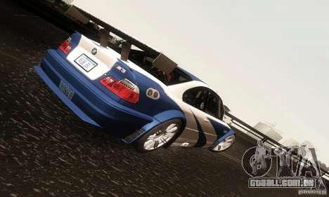 BMW M3 GTR para GTA San Andreas vista interior