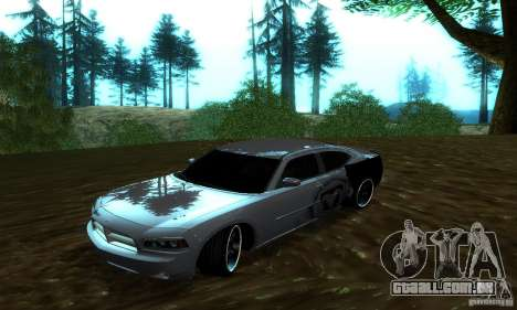 Dodge Charger SRT8 Mopar para GTA San Andreas vista traseira