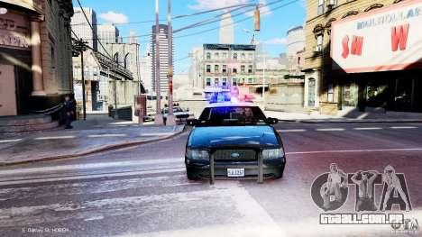 CVPI LCPD San Diego Police Department para GTA 4 vista de volta