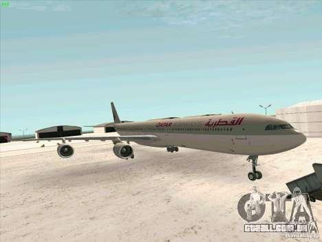 Airbus A-340-600 Quatar para GTA San Andreas