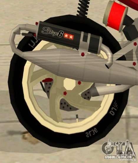 Gilera Runner 50SP Skin 5 para GTA San Andreas vista direita