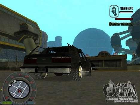 O novo Greenwood para GTA San Andreas traseira esquerda vista
