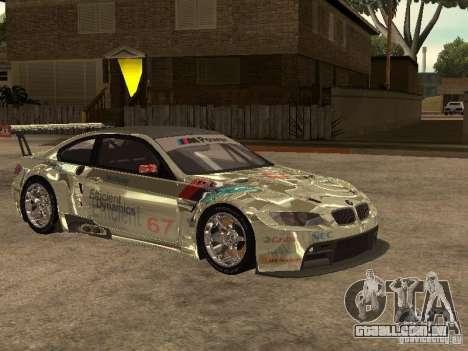 BMW M3 GT2 para GTA San Andreas vista traseira