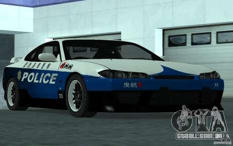 Nissan Silvia S15 Police para GTA San Andreas vista direita