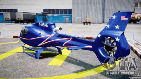 Eurocopter EC130B4 NYC HeliTours REAL para GTA 4 traseira esquerda vista