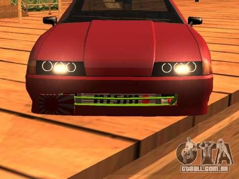 JDM Elegy para GTA San Andreas traseira esquerda vista