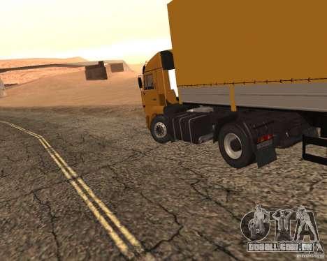 KamAZ 5460 Truckers 2 para GTA San Andreas traseira esquerda vista