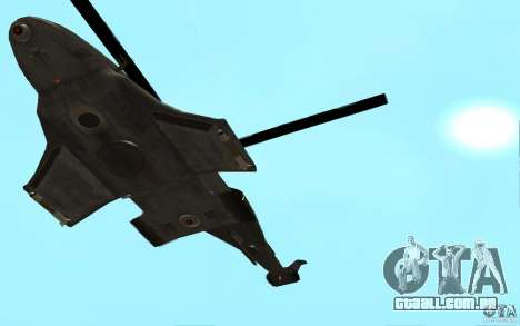 Scout Drone from BO2 para GTA San Andreas vista direita