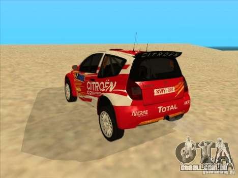 Citroen Rally Car para GTA San Andreas vista direita