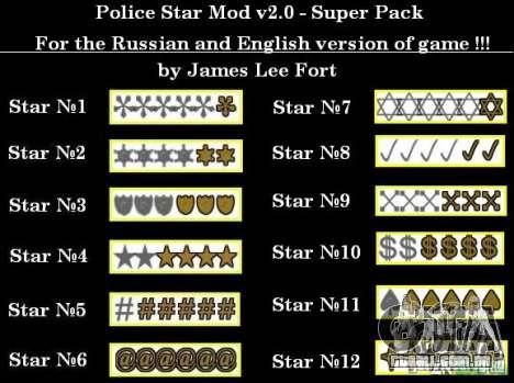 Novas estrelas para o capuz # 5 para GTA San Andreas