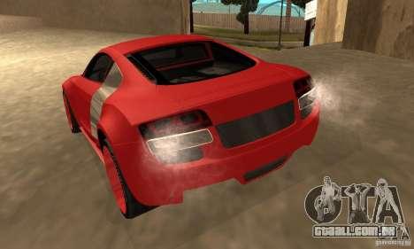 Audi R8 Custom para GTA San Andreas esquerda vista